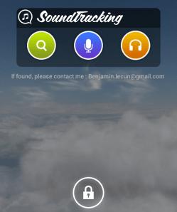 Soundtracking Locked Homescreen Widget