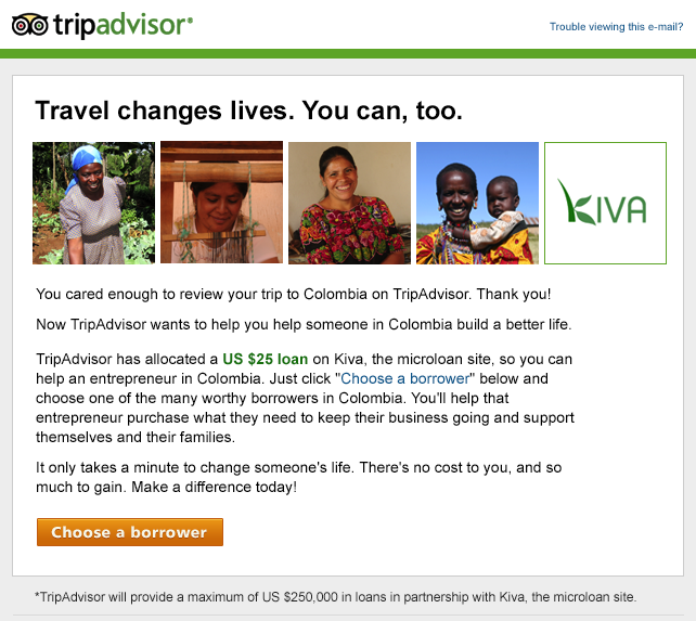 TripKiva email screenshot Done