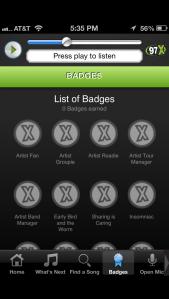97x badges