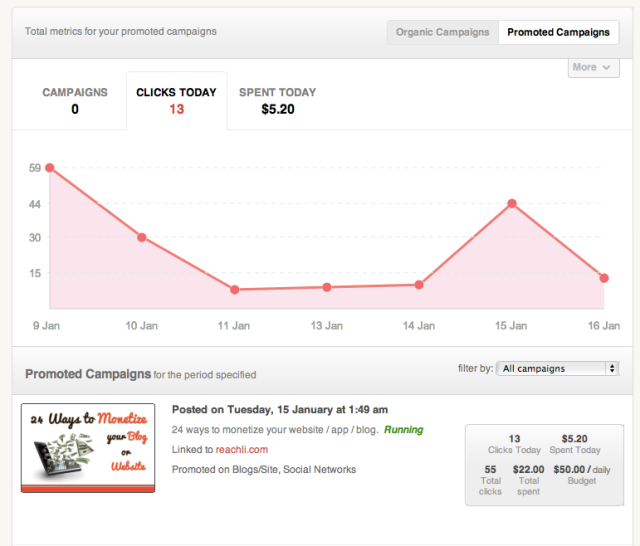 Advertiser analytics and performance paid campaigns
