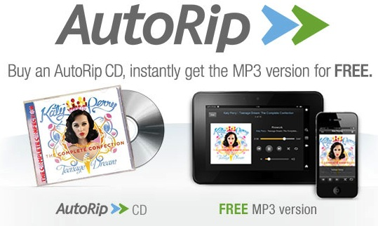 """Amazon's """"AutoRip"""" Service Goes Live, Giving Customers Free MP3s For"""