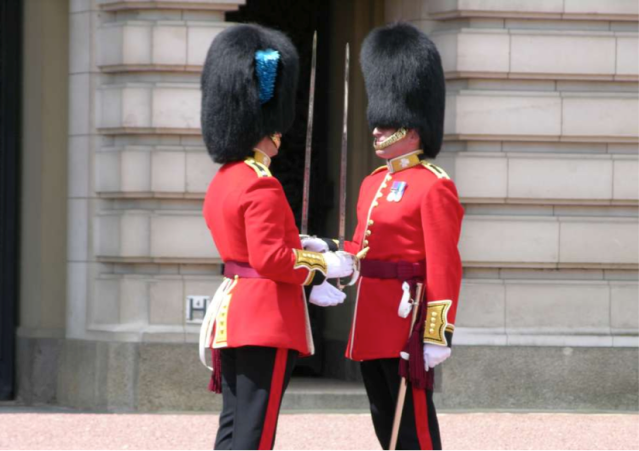 changing guards