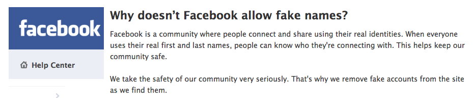 Do i use my real name on facebook