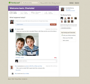familyleaf page