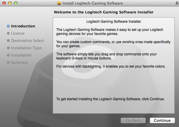 Logitech Gaming Software Installer