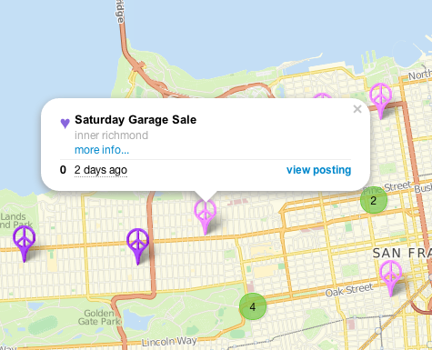 Craigslist Slowly Expands Its Maps To Items For Sale Starting First - Yard mapping program