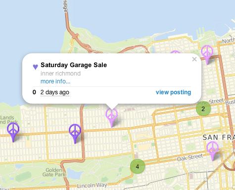 Craigslist Garage Map