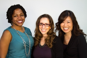 From left: Stacy Brown-Philpot, Leah Busque, and Anne Raimondi