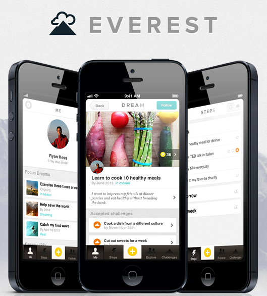 Everest, An Epic App For Achieving Your Dreams | TechCrunch