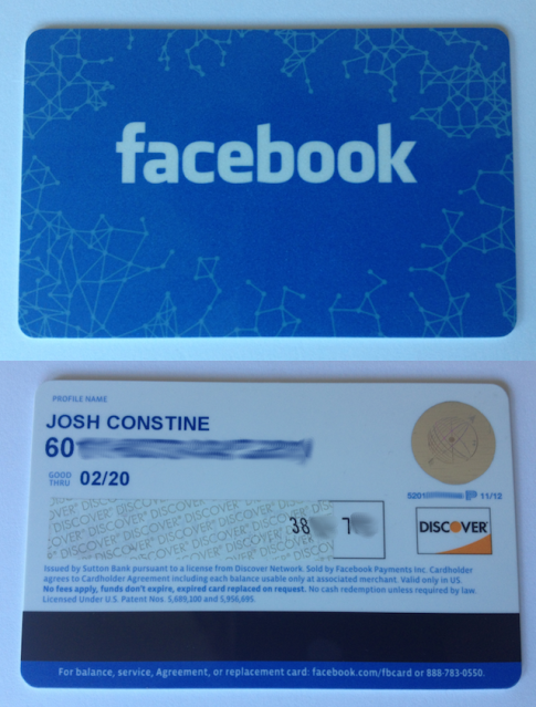 Facebook Gift Card Photo