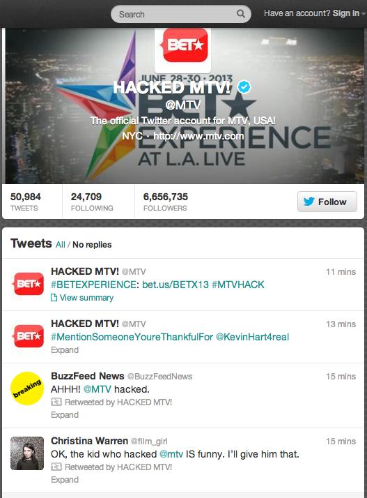 HACKED MTV! (MTV) on Twitter-1