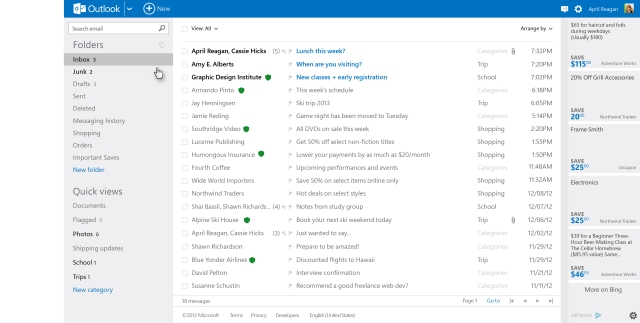 outlook.com inbox
