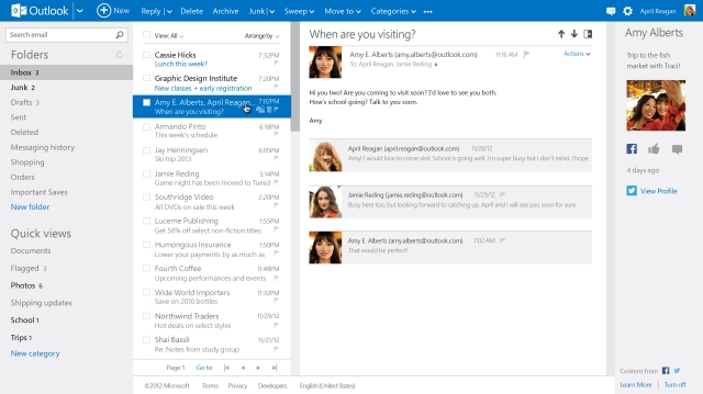 outlook.com connectd