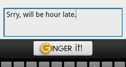 Ginger Software Brings Its Proofreading Keyboard To Android
