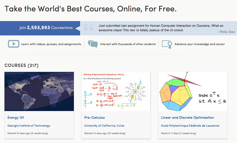Curbing The Cost Of College: Coursera Wins Approval To Offer Online