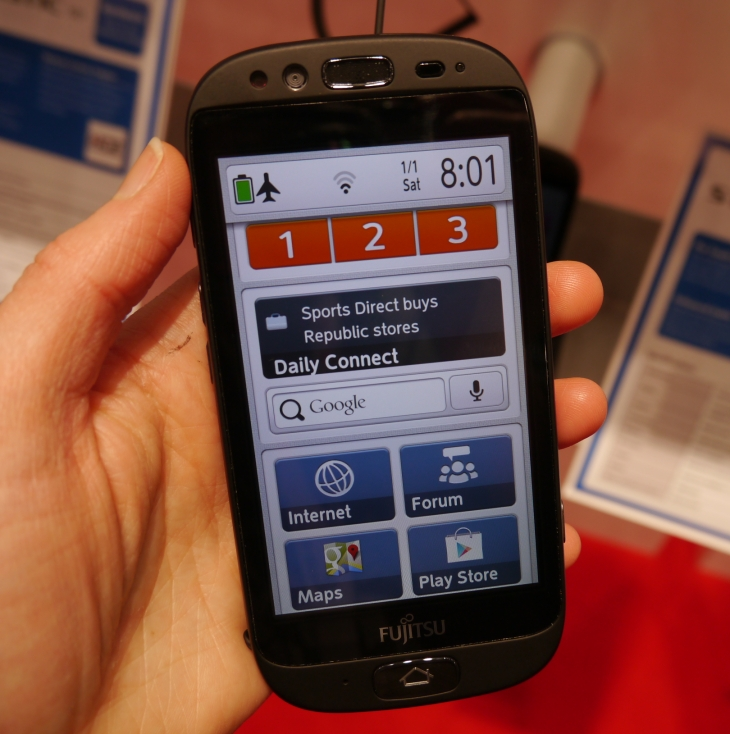 Fujitsu's Senior-Focused Smartphone Is A Thoughtful Use Of