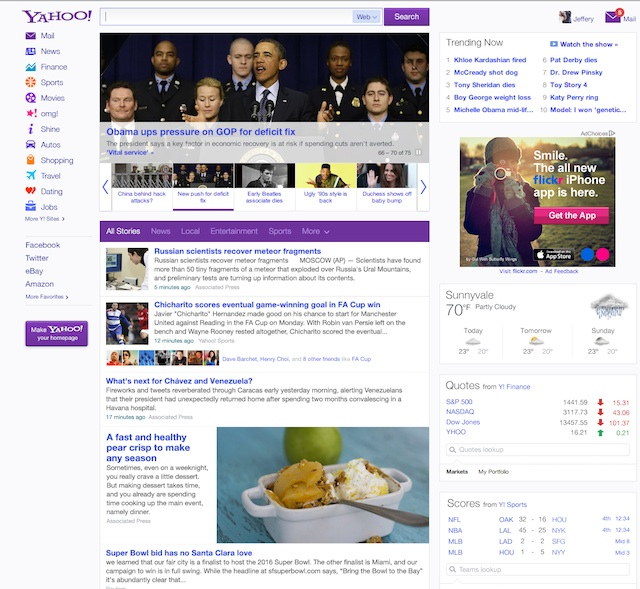 Yahoo Rolls Out A More Personalized And Interactive Front Page