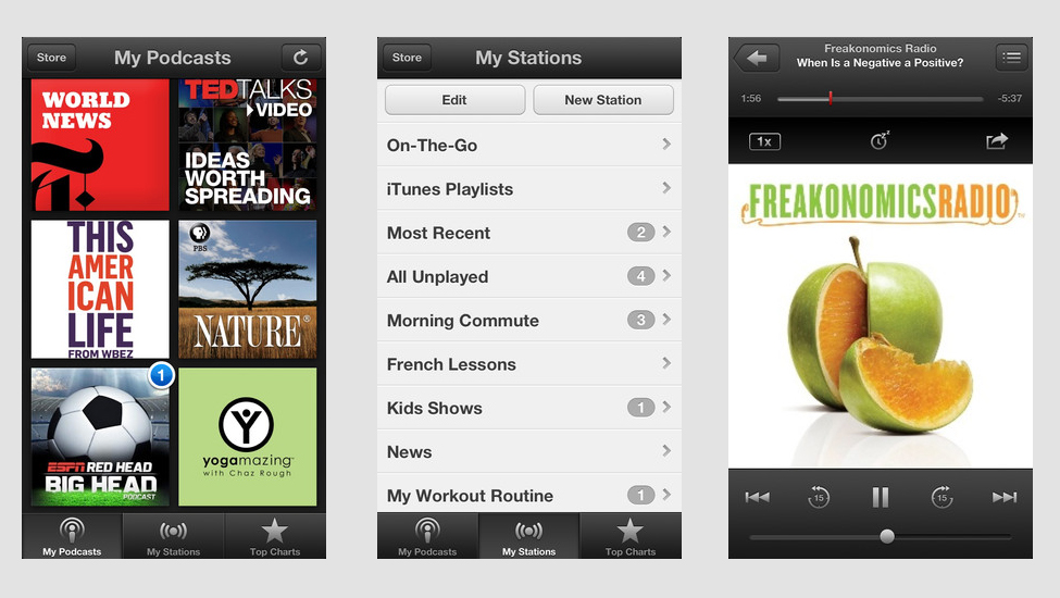 apple updates podcasts app  adds custom stations with