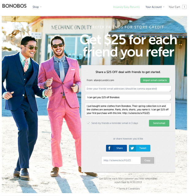 Bonobos current campaign