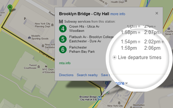 Google Maps Beefs Up Its Live Transit Information With Updates For
