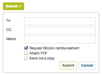 Request Bitcoin Reimbursement