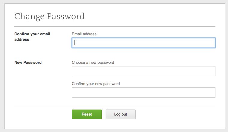 evernote password change
