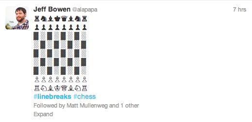 twitter linebreak chess