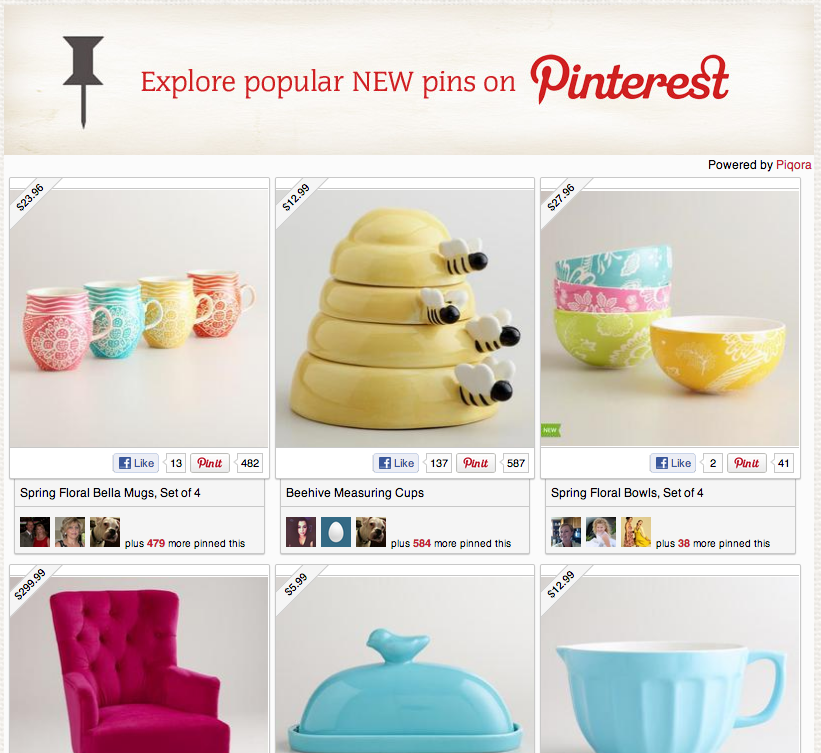pinterest gallery on world market
