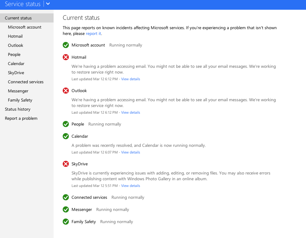 Microsoft Is Currently Experiencing Hotmail, Outlook And