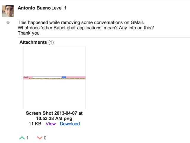 Babel chat - Google Groups