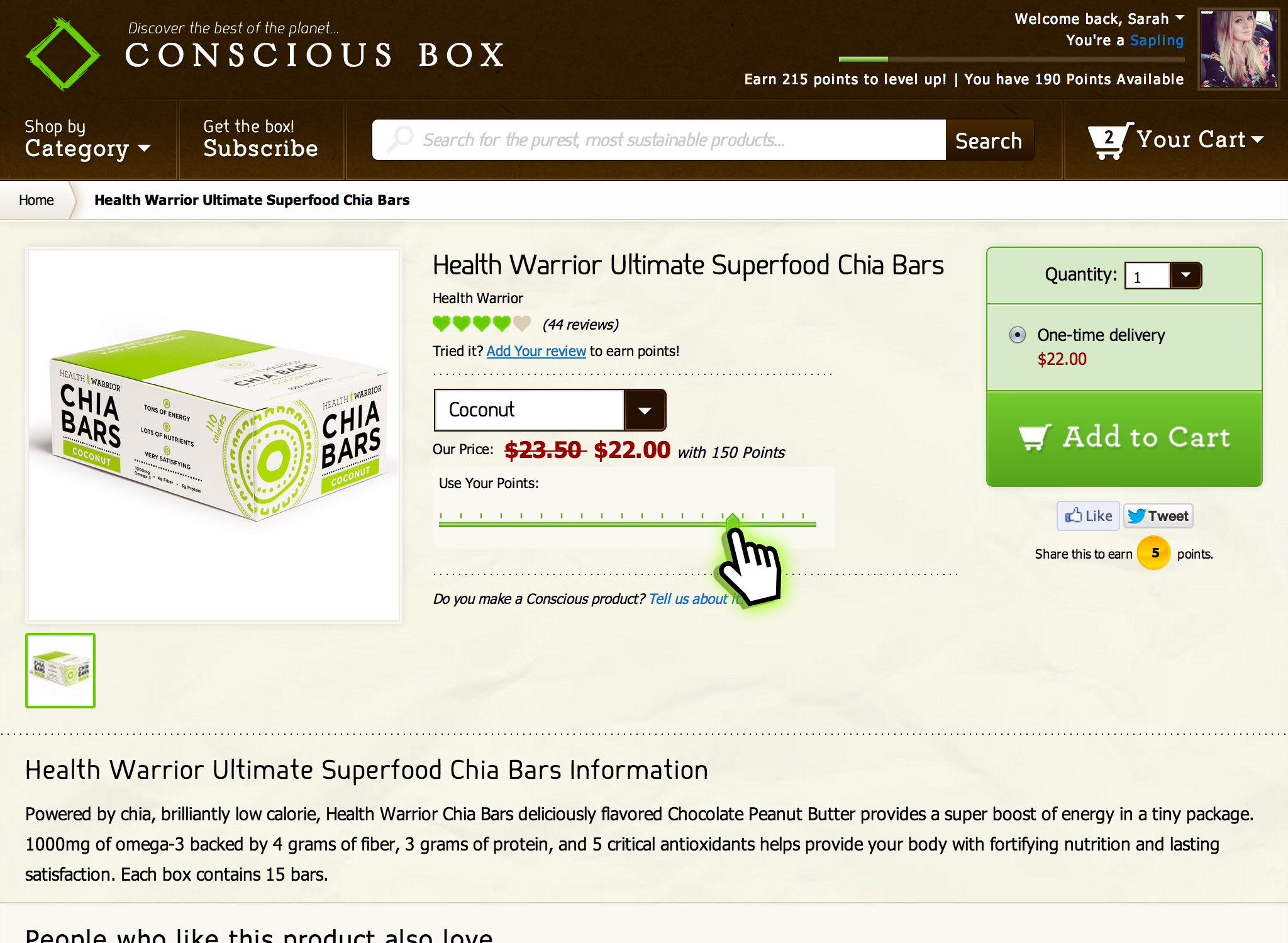 Conscious Box - Product Page Demo