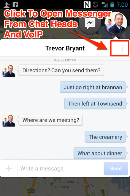Facebook Chat Heads Map Multi-Tasking copy VoIP Done