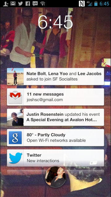 Facebook Home HTC Frist Notifications