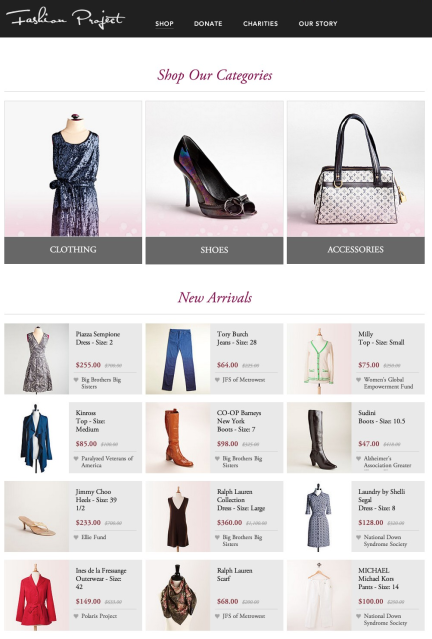 fashion-project-homepage