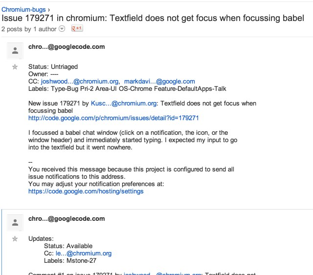 Issue 179271 in chromium_ Textfield does not get focus when focussing babel - Google Groups