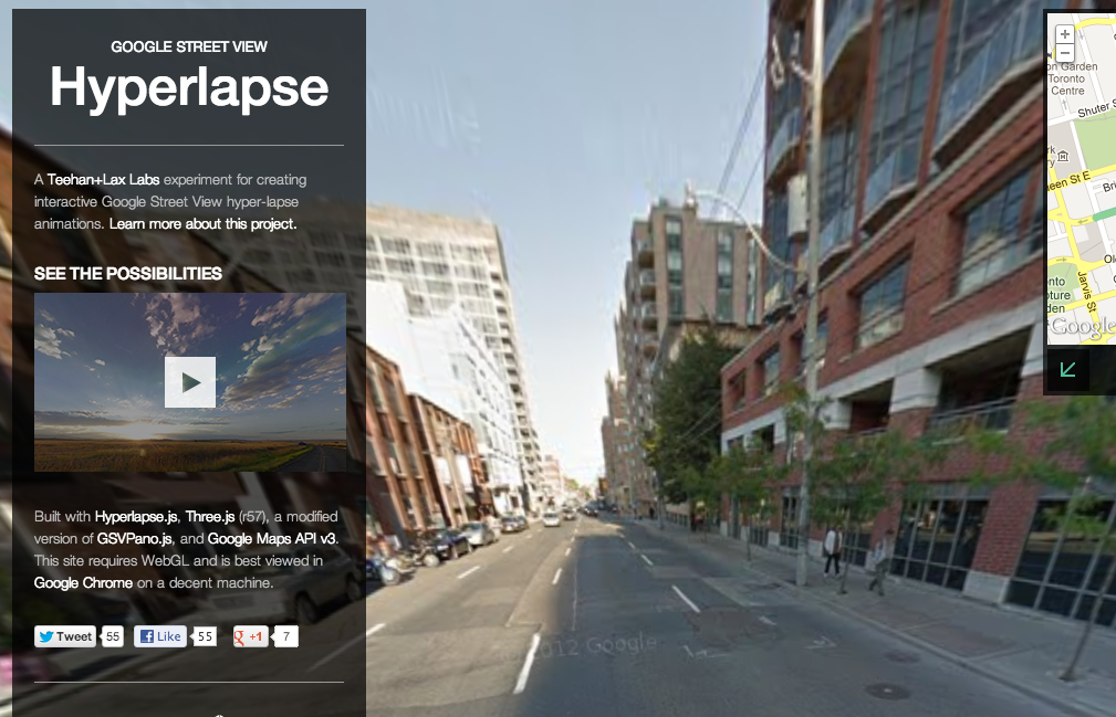 Google Street View Hyperlapse Is An Experimental New Way Of