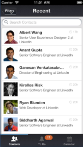 LinkedIn Contacts Mobile App