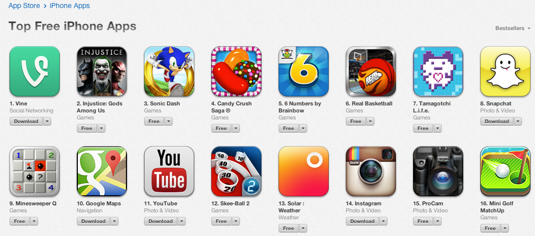 Just Six Months After Being Acquired Twitter S Vine Hits 1 Free Spot On Apple S App Store Techcrunch
