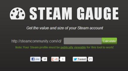 Steam Gauge Gauges The Sizeprice Of Your Steam Techcrunch
