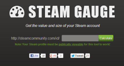 Steam Gauge Gauges The Sizeprice Of Your Steam Techcrunch