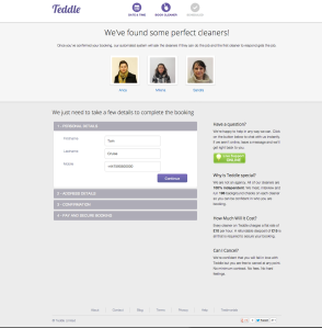 Teddle - Booking Page