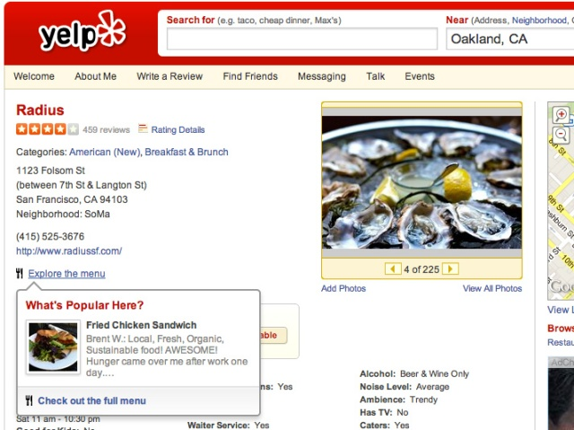 Yelp Locu - screenshot 1