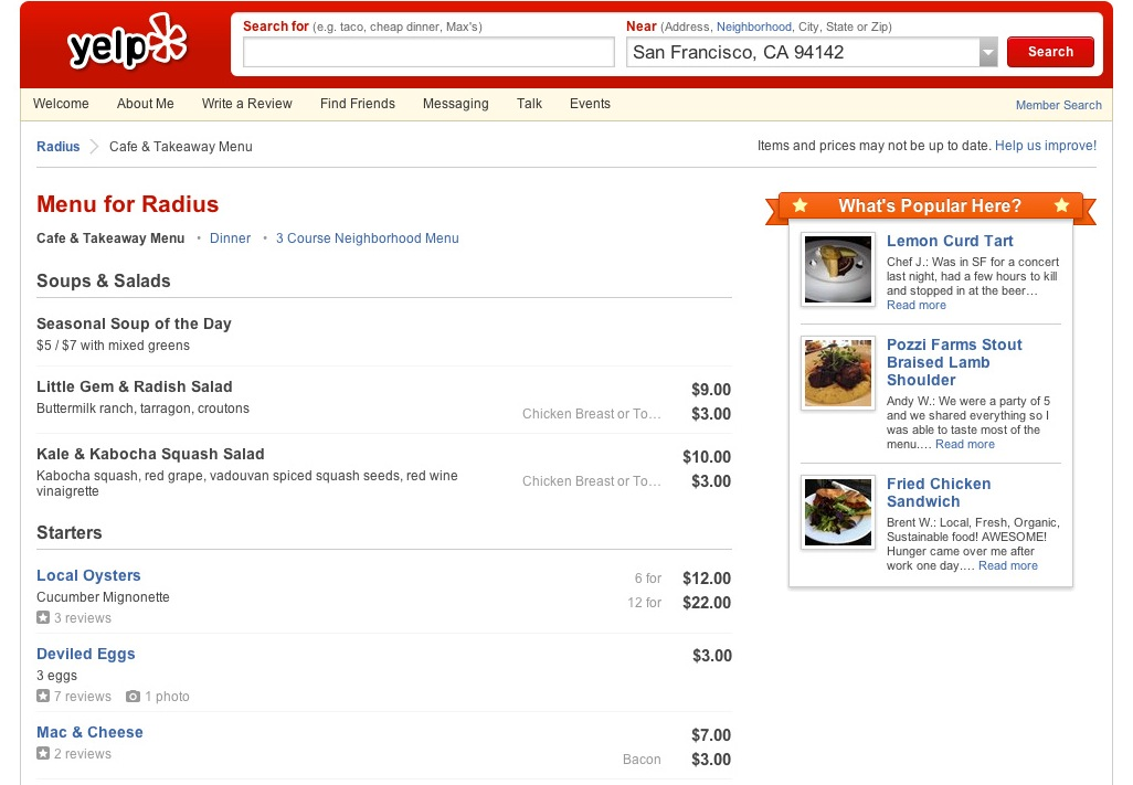 Yelp Partners With Locu, Allowing Businesses To Post Menus, Daily ...