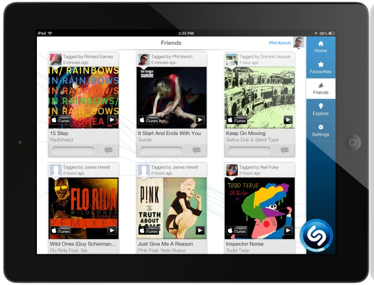 Shazam Revamps Its iPad App For Second Screen Action, Can