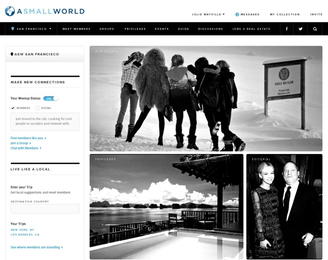 ASMALLWORLD Homepage
