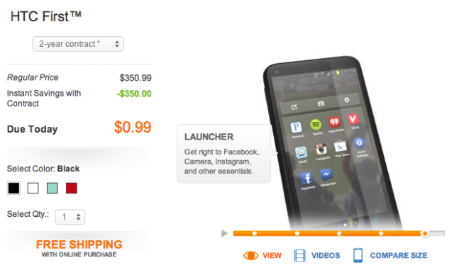 Facebook Phone Price Drop