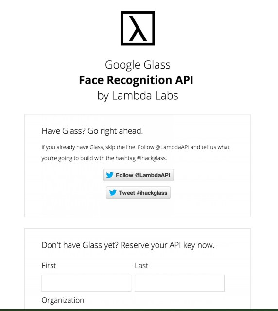 Google Glass Face Recognition API