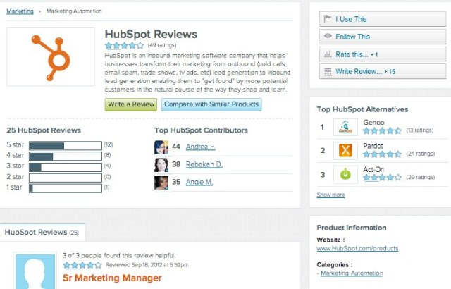 HubSpot ReviewsG2 Crowd