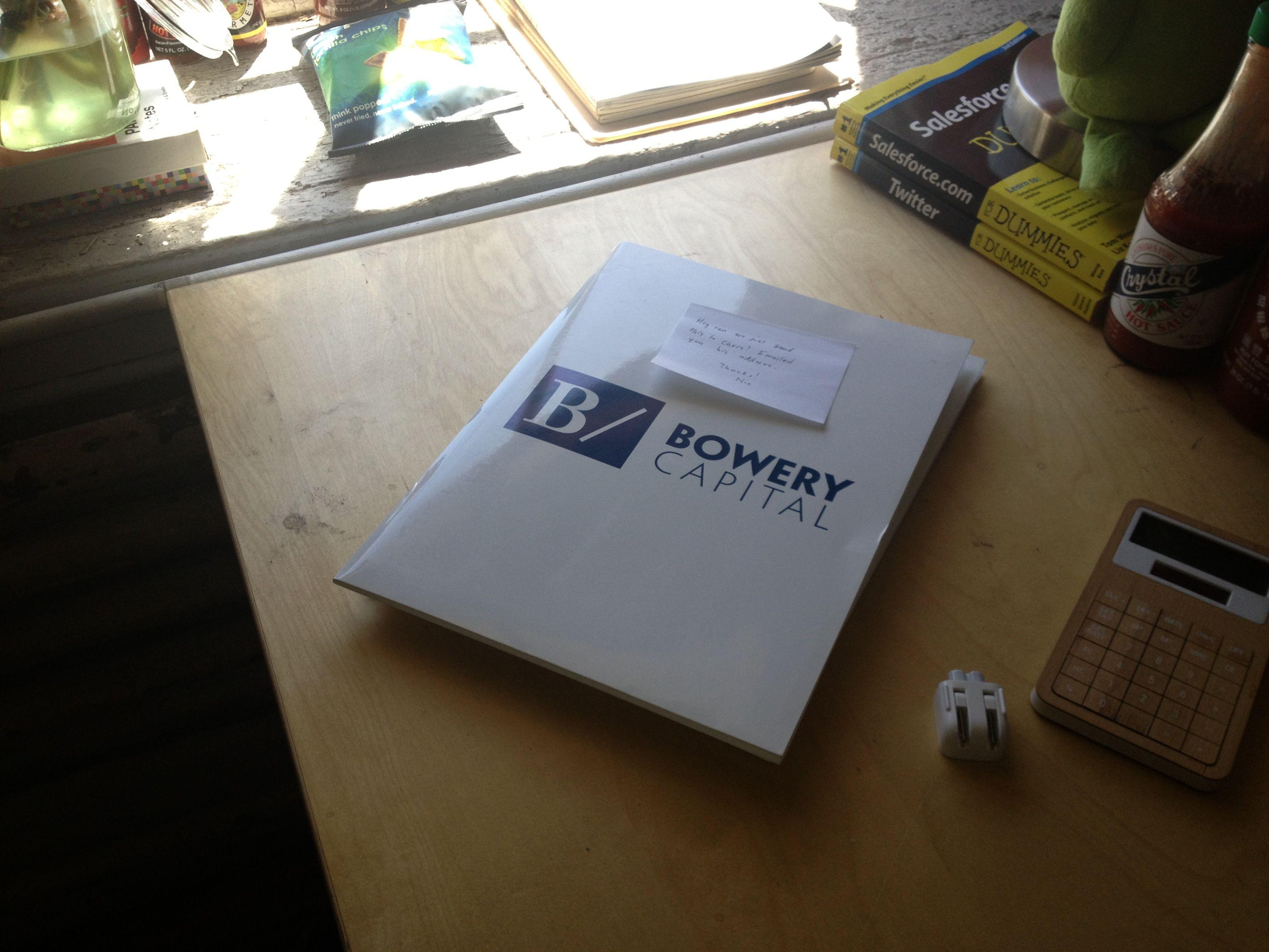 A folder, also with a non-Aol Ventures logo.