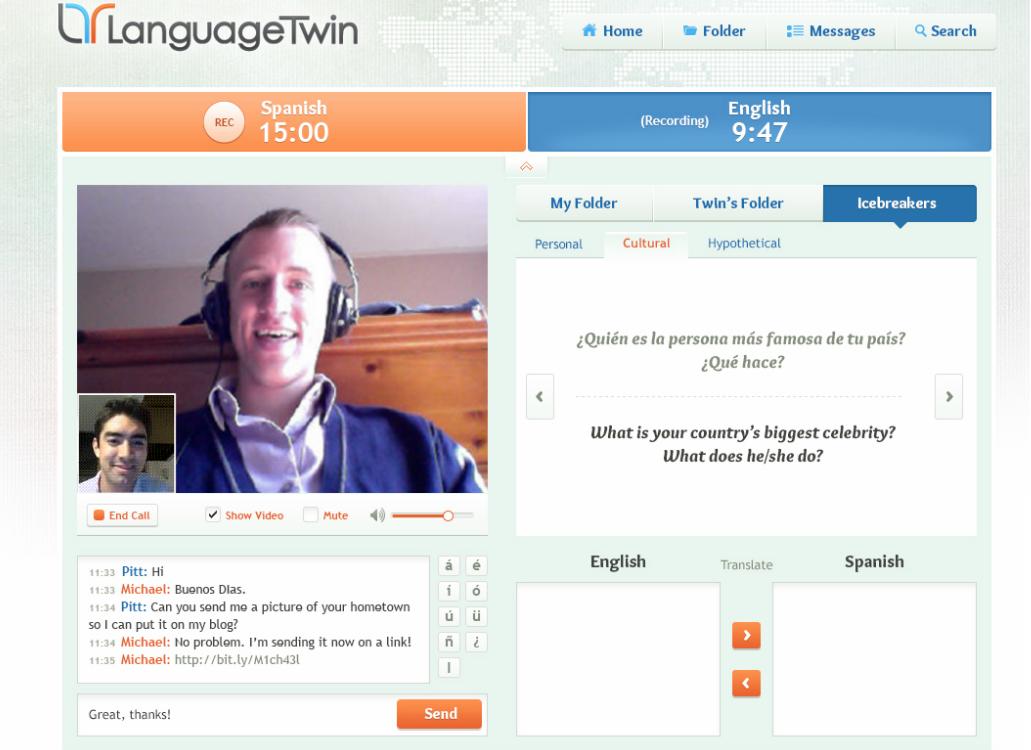LanguageTwin Video Chat